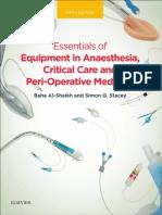 Essentials of equipment in anaesthesia