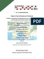 Analisis y Desarrollo Del Departamento de Recursos Humanos Del Hotel Barcelo Karmina Palace Deluxe