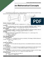 Basic Mathematical concepts