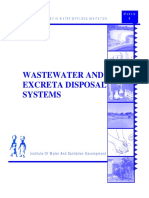 WASTEWATER AND EXCRETA DISPOSAL