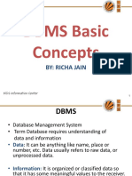 Dbms Basic Concepts Data Models Formal Relational Query Languages Record Based Data Models Database Constraints Functional Dependency and Normalization