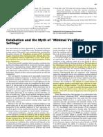 Extubation and the Myth of Minimal Ventilator Settings AJRCCM 2012