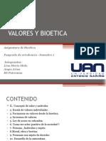 Seminario de Bioetica Valor y Antivalor -Semestre 1 . 2019