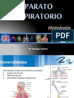 Aparato respiratorio Histología