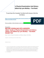 Bates' Guide to Physical Examination and History Taking 11th Edition by Lynn Bickley – Test Bank