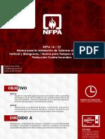 Ficha Técnica NFPA 14 22 Norma Para La Instalación de Sistemas de Tuberías Vertical y Mangueras Norma Para Tanques de Agua Para La Protección Contra Incendios