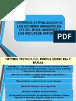 Criterios de Evaluacion de Impactos Ambientales