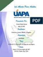 UNIDAD-IV Proceso  de investigación sociológica.