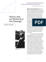 Women Jews and Modernity in Otto Weininger