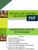 Técnicas de Control Inventarios