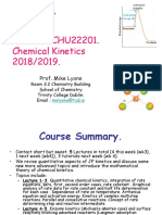 SF Chemical Kinetics CHU22201 Michaelmas 2018