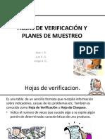 Hojas de Verificación y Planes de Muestreo