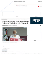 """Liberaciones en caso Ayotzinapa muestran """"miseria"""" de la justicia"""