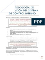 Metodología de Evaluación Del Sistema de Control Interno Hq