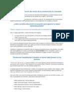 Panorama y Evolución Del Sector de La Construcción en Colombia