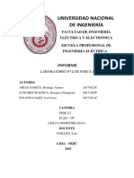 Informe del laboratorio 2 -FISICA 1