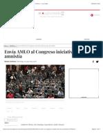 Envía AMLO al Congreso iniciativa de ley de amnistía - Política - La Jornada