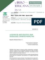 La equidad del gasto educativo viejas desigualdades, diferentes perspectivas.pdf