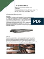 Metales No Ferricos