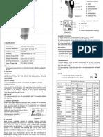 Nubee NUB8550H Temp Gun Manual