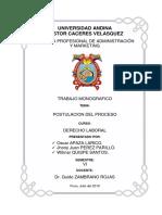 Monografia sobre postulacion de proceso