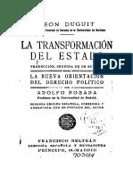 La Transformacion Del Estado (Duguit)