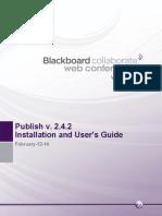 Blackboard Collaborate Publish! Installation and User's Guide (1)