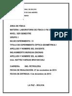 Informe Numero 13 Optica