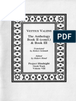 72411655 Vettius Valens the Anthology Book II Concl Amp Book III