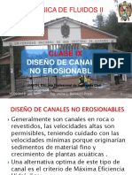 Clase X-diseño de Canales No Erosionables
