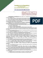 Lei Nº 13.819, De 26 de Abril de 2019