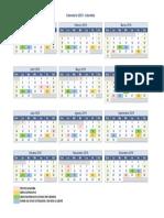Calendario Colombia Recepción Factura Producto Proveedores 2019
