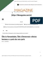 Ódio Às Humanidades, Ódio à Democracia_ Ciências Humanas e a Parte Dos Sem-parte _ HH Magazine