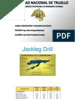 jackleg y malla de perforacion inera