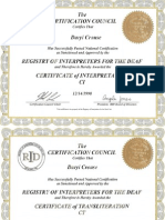 RID Certifications for Daryl Crouse