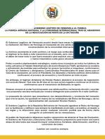 Mensaje del Gobierno Legítimo de Venezuela