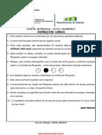 Prova de concurso IFSUL 2015 Biologia
