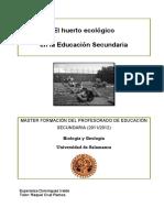 El Huerto Ecológico en La Educación Secundaria. TFM Universidad de Salamanca (2011-2012). Esperanza Domínguez Iralde