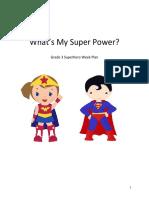 superhero week plan
