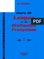 Gaston Mauger - Cours De Langue Et De Civilisation Francaise I. I-Hachette (1967).pdf