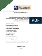 Identificacion de Falencias y Determinacion de Acciones de Mejora a La Empresa America Movil Peru s.a.c.