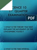 Science 10 Exam