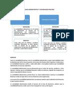 Contabilidad Administrativa y Contabilidad Finaciera