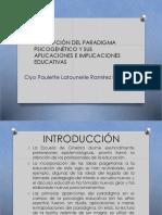 Descripción Del Paradigma Psicogenético y Sus Aplicaciones