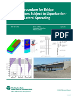 Design Procedure for Bridge Foundations Subject to Liquefaction Induced Lateral Spreading