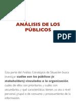 Análisis de los públicos