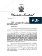 Proyecto de Resolucion Ministerial