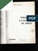 Introduccion a La Sociologia Del Trabajo