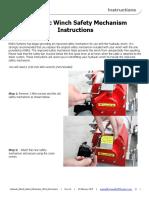 Hydraulic Winch Safety Mechanism 4254 Instructions