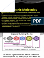 Biology Units 3 and 4 Transition - Biological Molecules 2015